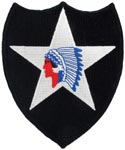 2nd Infantry Division Full Color Patch Army Patch