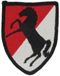 11th Armor Cavalry Full Color Patch Army Patch