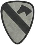 1st Cavalry Division ACU Patch with Fastener Army Patch