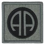 82nd Airborne Division ACU Patch with Fastener Army Patch