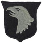 101st Airborne Division ACU Patch with Fastener Army Patch