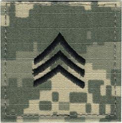 ACU Rank Sergeant E-5 with Fastener Military Patch Insignia in ...
