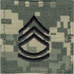 ACU Rank Sergeant First Class E-7 with Fastener Army Patch