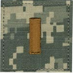 ACU Rank Second Lieutenant with Fastener Army Patch