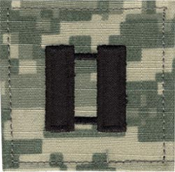 Acu Rank Captain With Fastener Military Patch Insignia In