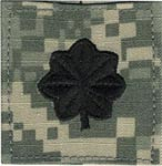 ACU Rank Lieutenant Colonel with Fastener Army Patch