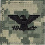 ACU Rank Colonel with Fastener Army Patch