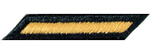 Male Service Stripes Gold/Green Army Patch