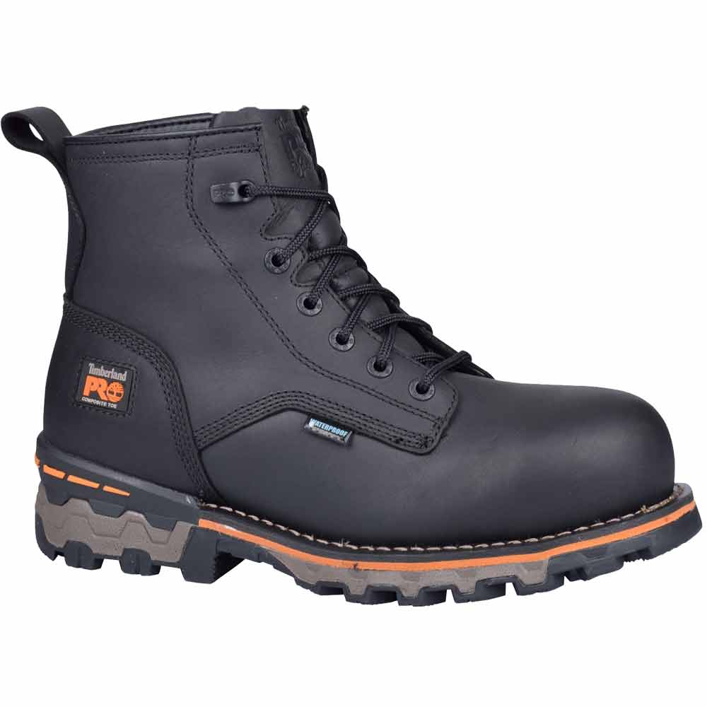 timberland pro black 6 inch wp composite toe work boots a127r