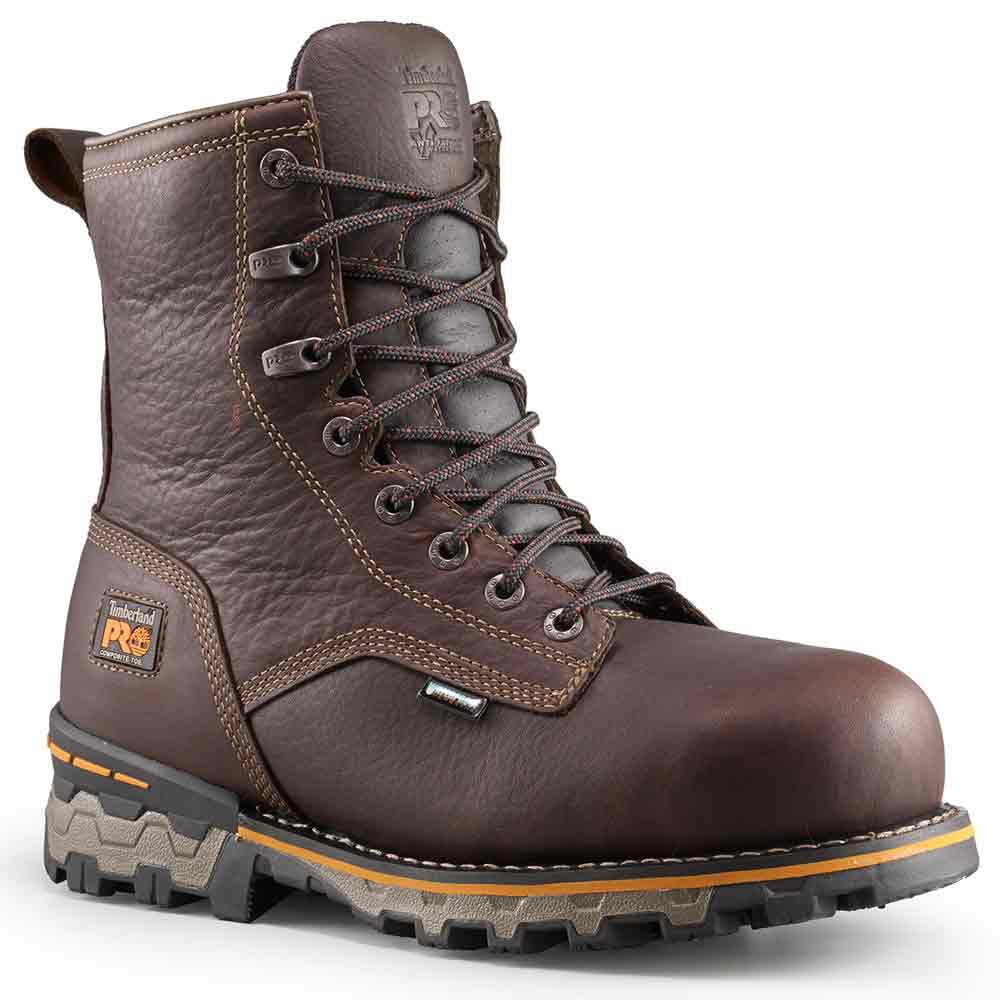 Timberland 8 Inch Boondock Brown Insulated Work Boot