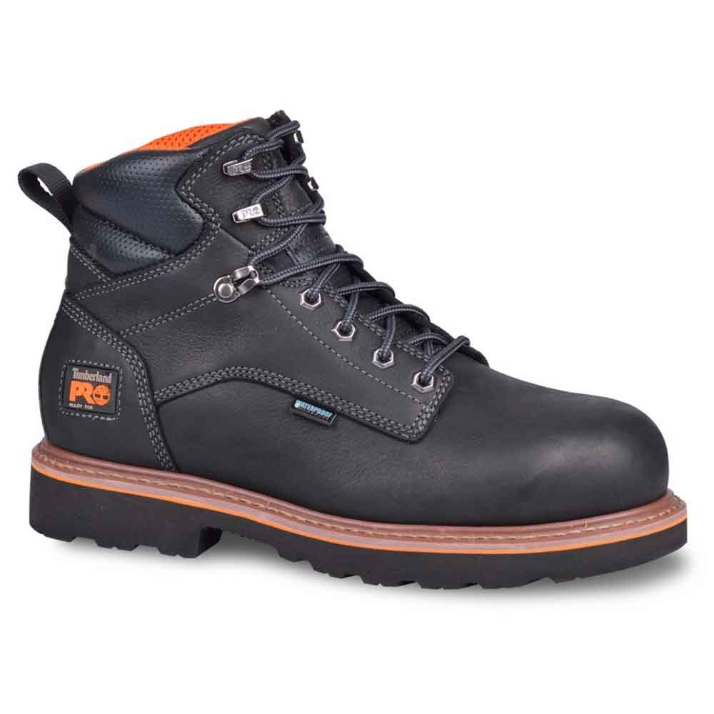 timberland pro ascender black 6 inch wp work boot tb0a16op001