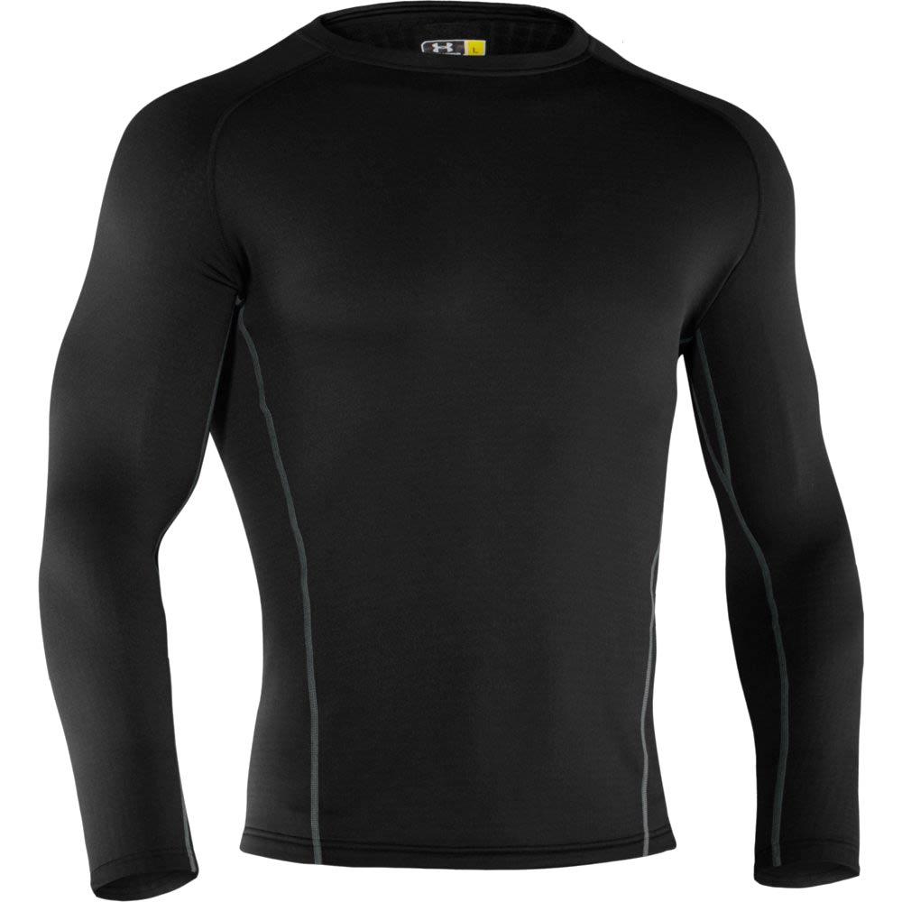 Ua base 3 0 cold gear long sleeve crew shirt 1239727 for Under armour half sleeve shirt
