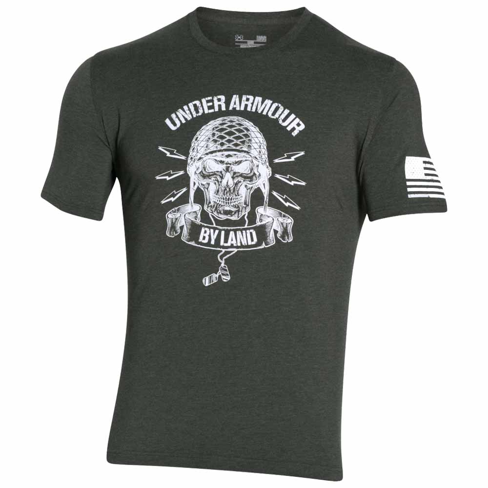Under armour freedom army by land military t shirt for Under armour i will shirt
