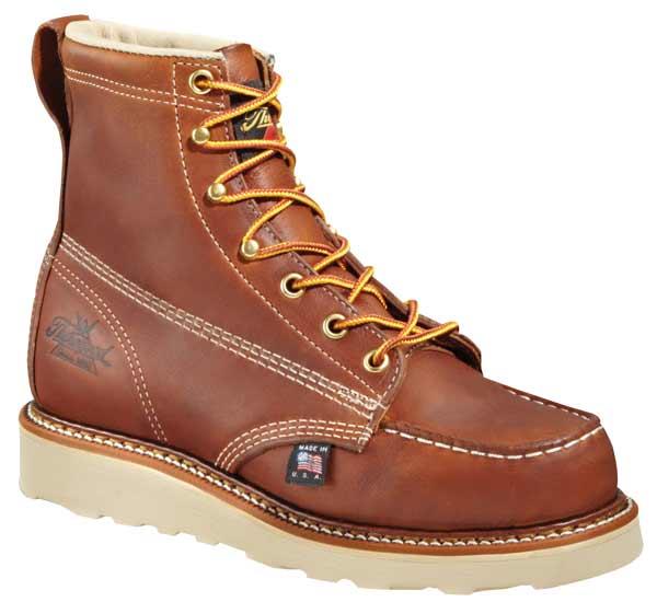 thorogood 804 4200 moc toe 6 inch wedge sole safety toe