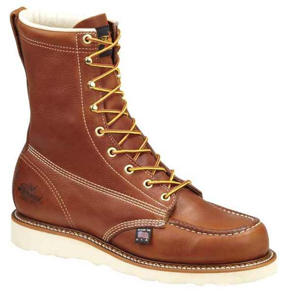 Thorogood 814 4201 American Made Moc Toe Wedge Sole Work Boots
