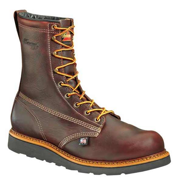 thorogood 8 inch plain toe wedge us made work boot 814 4269