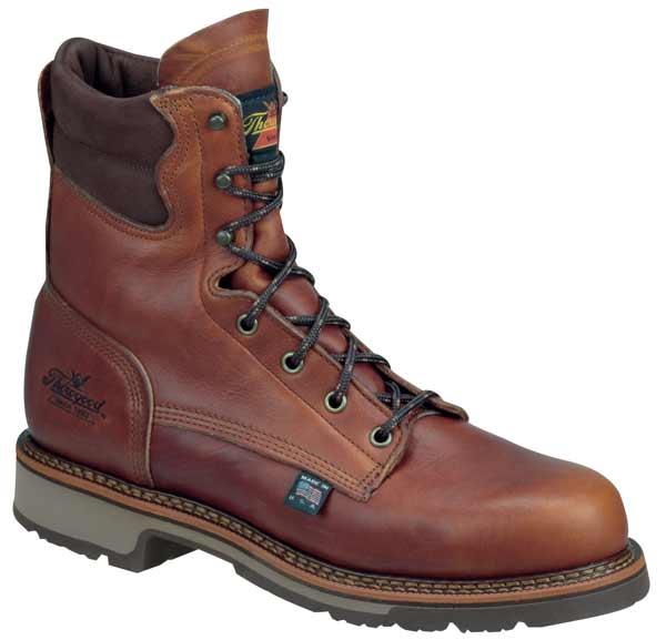 thorogood 814 4549 american made 8 inch plain toe work boots