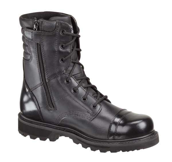 Thorogood 8 Inch Side Zip Jump Black Uniform Boot 834 6888