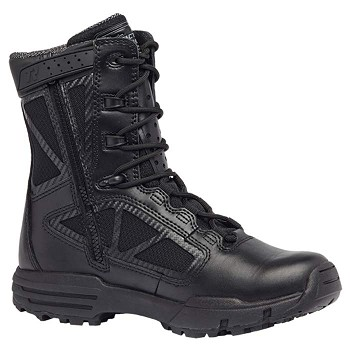 Tactical Research Chrome 8-inch Waterproof Composite Toe Side Zip Boot