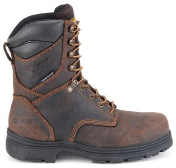 Carolina CA3534 8 Inch Brown Steel Toe Waterproof Insulated Work Boots