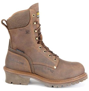Carolina CA7539 8 Inch Brown Waterproof Composite Toe Logger Boots