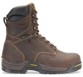 Carolina CA8021 8 Inch Brown Broad Toe  Insulated Waterproof Work Boots