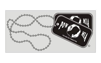 POW MIA Dog Tag Vehicle Window Decal