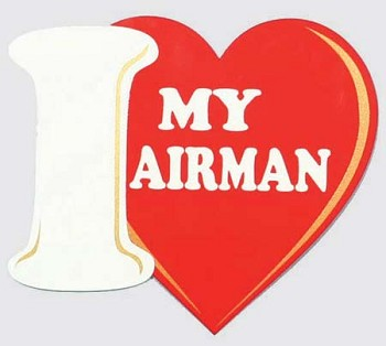 I Love My Airman Sticker