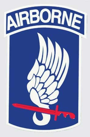 Full Color 173rd Airborne Sticker