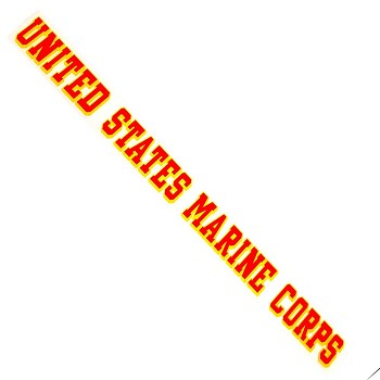 15 inch United States Marine Corp Window Sticker