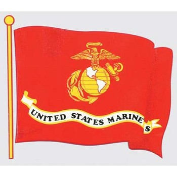 U.S. Marine Corps Flag Sticker