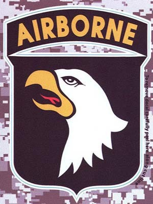 101st Airborne Digital Camo Decal