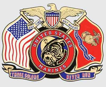 Marine Corps, These Colors Never Run Sticker