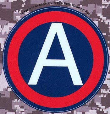 U.S. Army Central Combat Service Identification Badge Digital Camo Decal