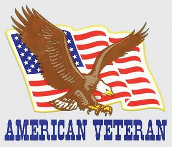 American Veteran Eagle and Flag Decal