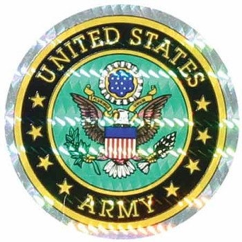 US Army Circle Foil Sticker