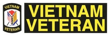Vietnam Veteran Military Bumper Sticker