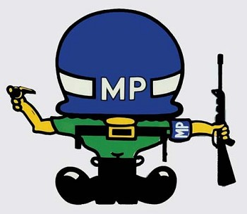Military Police Short Guy Sticker
