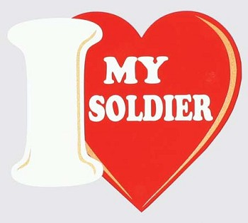 I Love My Solider Sticker