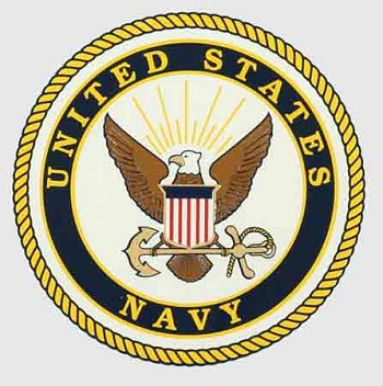 Small United States Navy Emblem Sticker