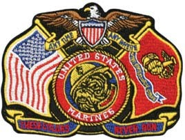These Colors Never Run Marine Corps Patch