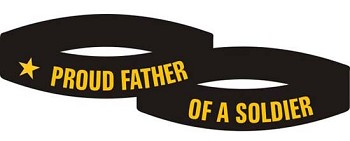 Proud Father of a Soldier Bracelet - Army