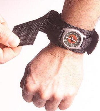 Tactical Black Nylon Covered Watch Strap