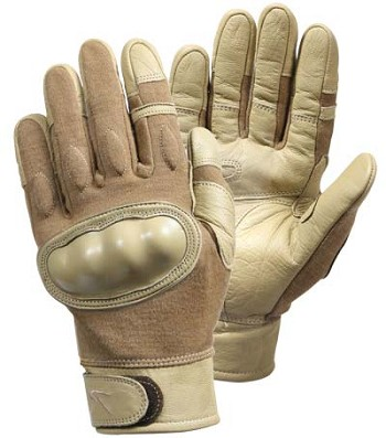 Basic Issue Hard Knuckle Flame and Cut Resistant Gloves - Coyote