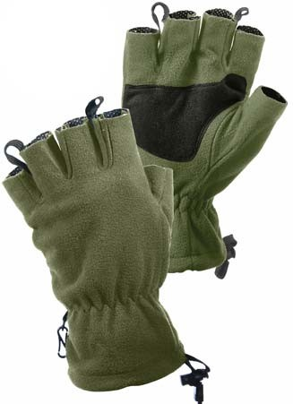 Basic Issue Fleece Fingerless Winter Gloves - Olive Drab