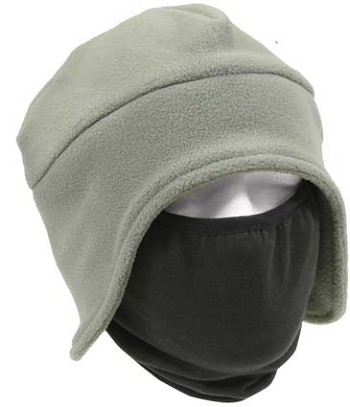 2 in 1 Fleece Hat and Winter Face Mask - Foliage