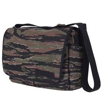 Tiger Stripe Camo Canvas Messenger Bag
