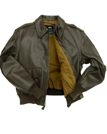 Alpha A-2 Leather Pilot Jacket