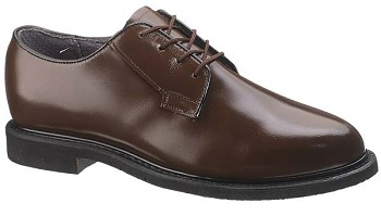 Bates Womens Lites Brown Leather Uniform Oxford - 0782