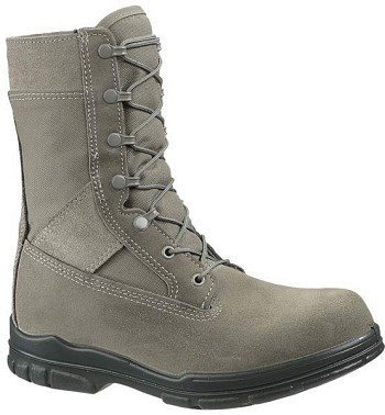 Bates Durashocks 8-inch Sage Green Steel Toe Military Boots - 0910